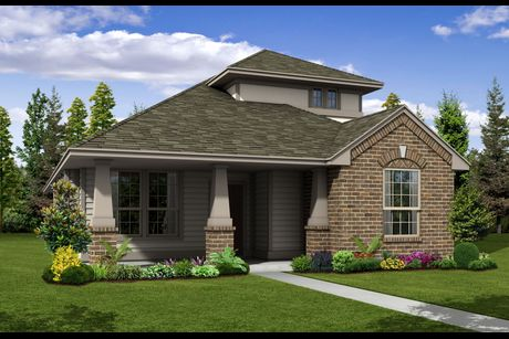 Tradesman Floor Plan Elevation A Brick Exterior With Large Covered Porch