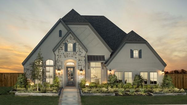 Gorgeous One-Story with Glass paneled Front Door