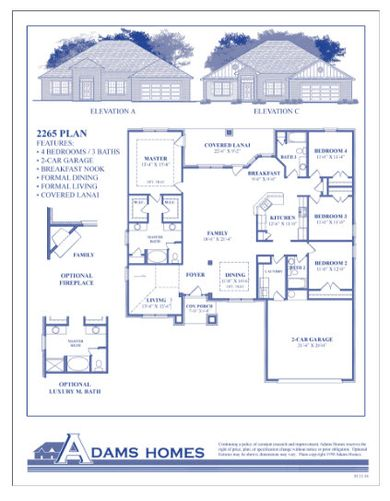 2265 Plan at Bryerstone in Angier North Carolina by Adams Homes RDU