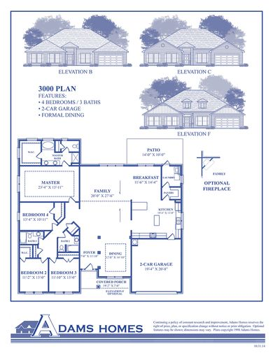 3000 Plan at Bryerstone in Angier North Carolina by Adams Homes RDU