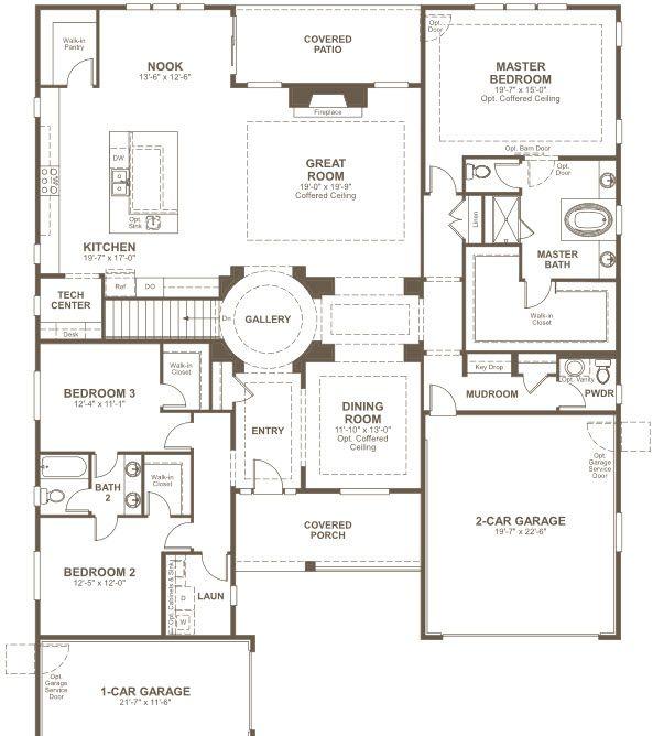 Floor Plan. Hanford By Richmond American Homes. Main Floor