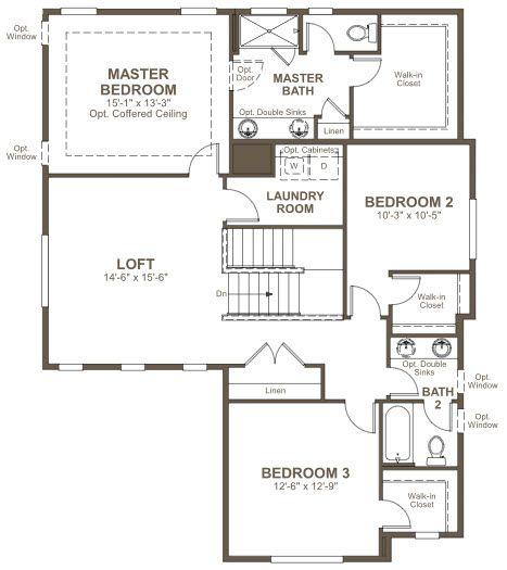 Floor Plan. Bronson By Richmond American Homes. Second Floor