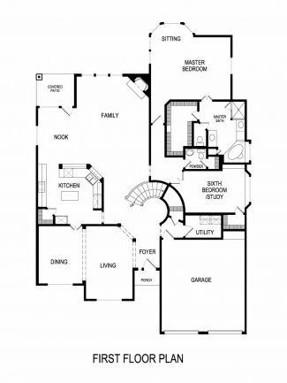 Brentwood II WMedia Plan At Marine Creek Ranch In Fort Worth - Floor plans for homes in texas