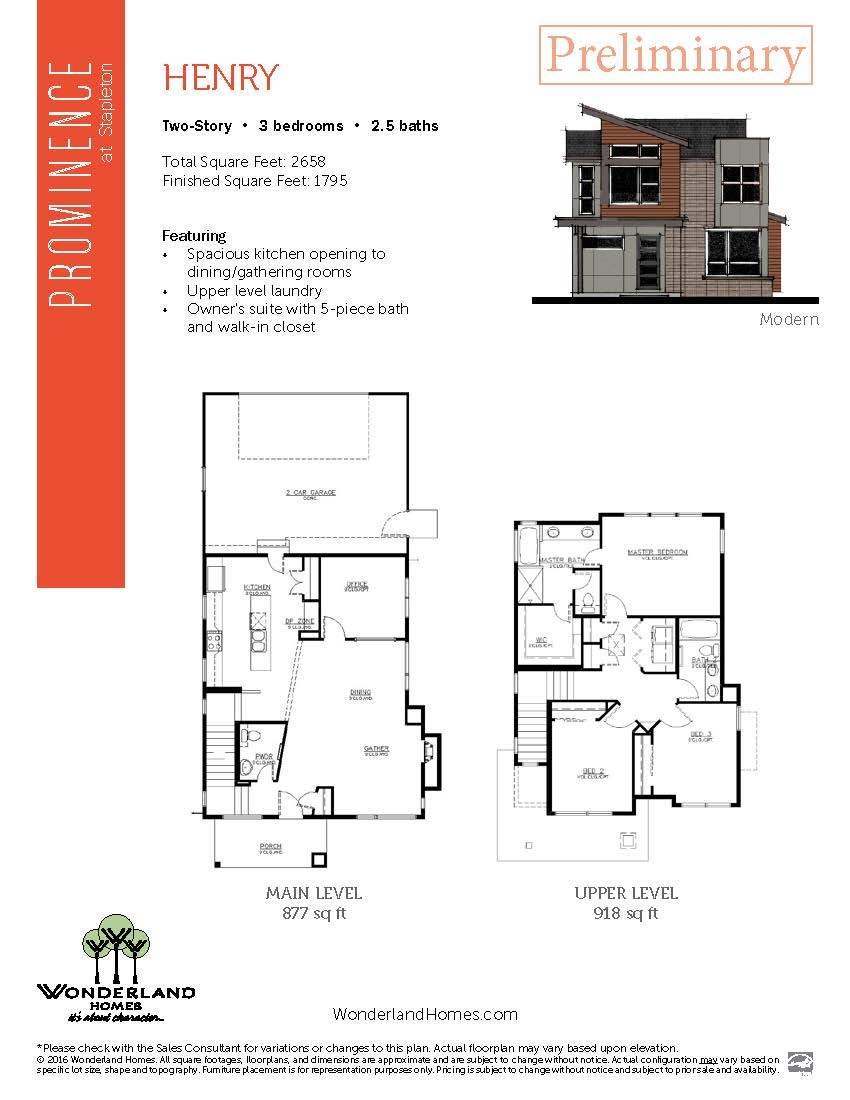 Henry  Wonderland Homes Plan, Denver, Colorado 80238   Henry  Wonderland  Homes Plan At Eleven Neighborhoods By Stapleton