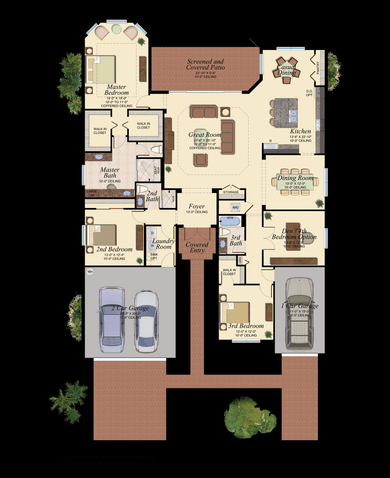 Bellagio Plan at Valencia Lakes in Wimauma Florida by GL Homes