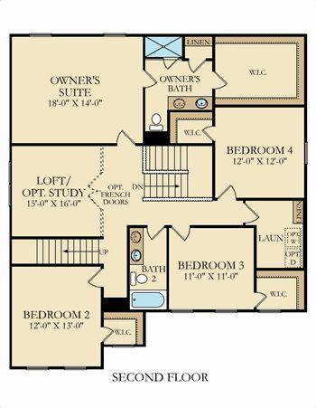 Second floor. Emerald Plan at Kinmere Farms   Enclave in Gastonia  North