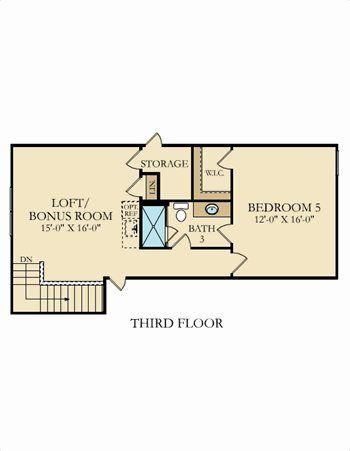 Third floor. Emerald Plan at Kinmere Farms   Enclave in Gastonia  North