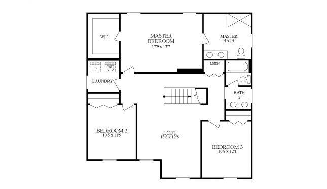 Rockford G   Second Floor Layout