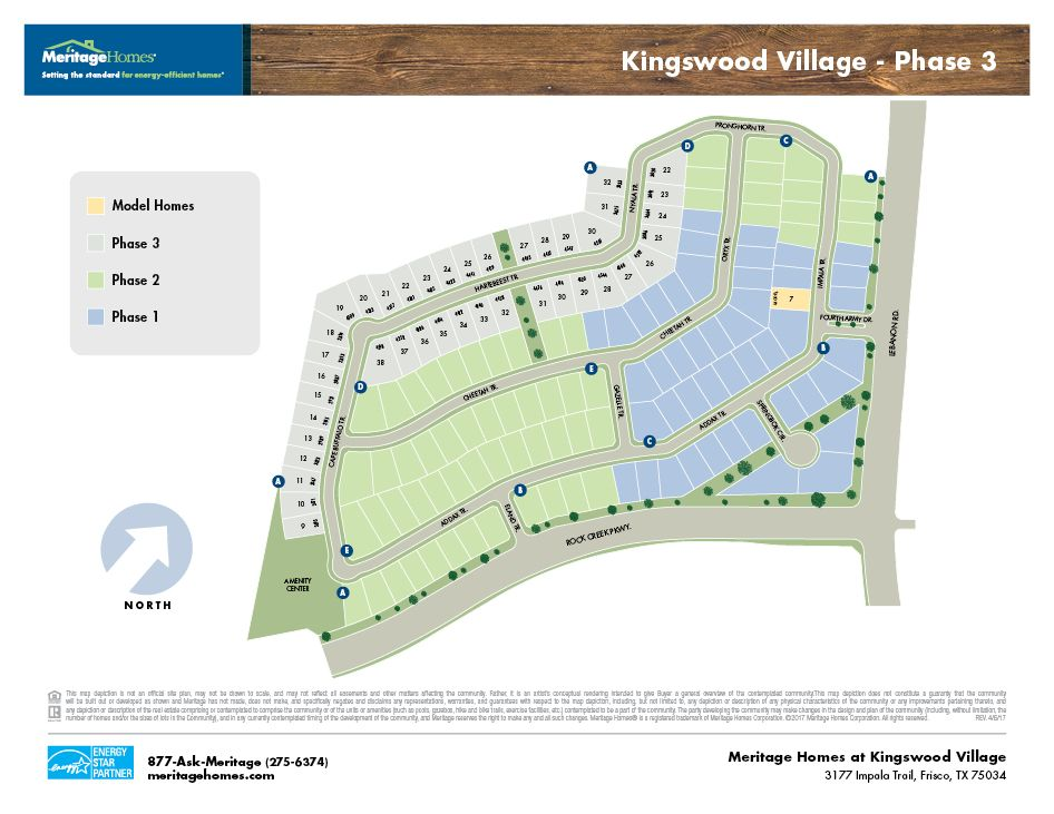 Kingswood Village in Frisco TX New Homes Floor Plans by Meritage
