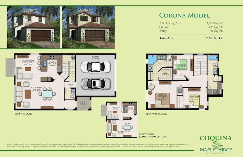 Corona model homes