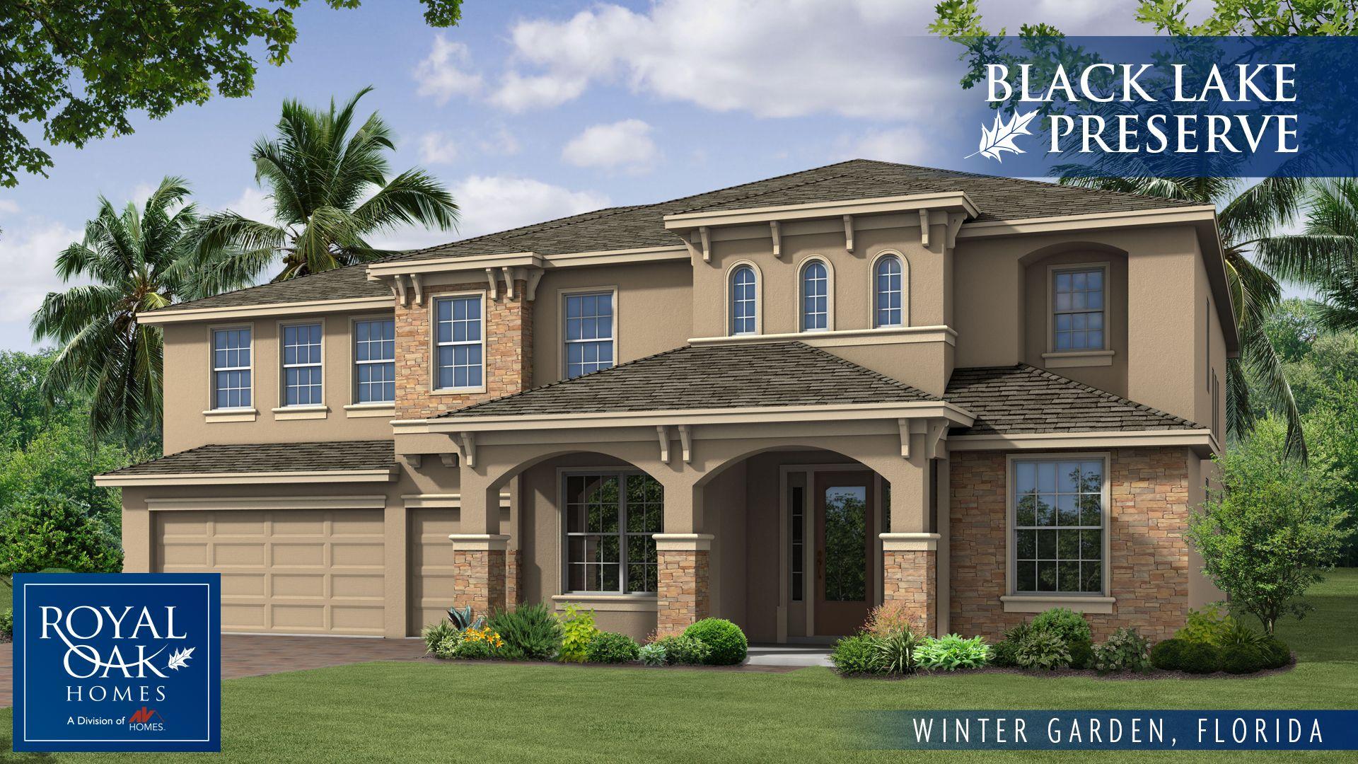 Black Lake Preserve In Winter Garden FL New Homes Floor Plans.