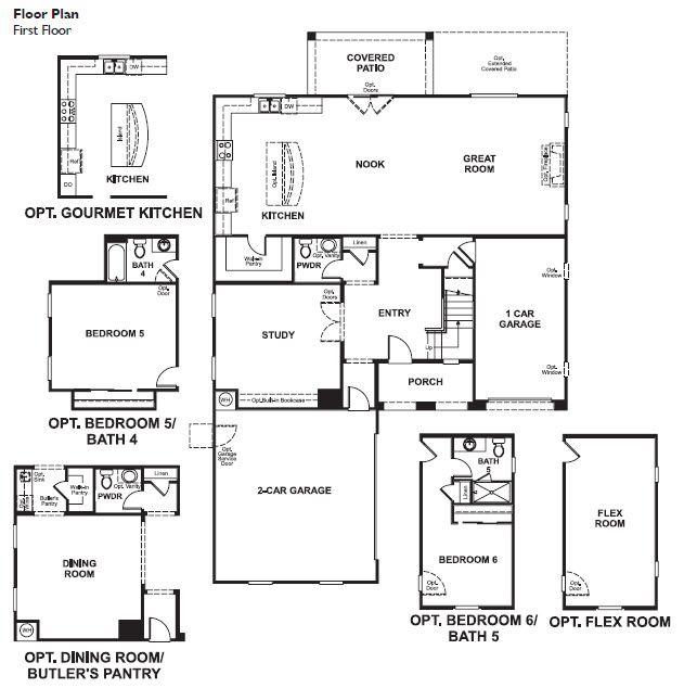 Floor Plan. Thomas By Richmond American Homes. Image