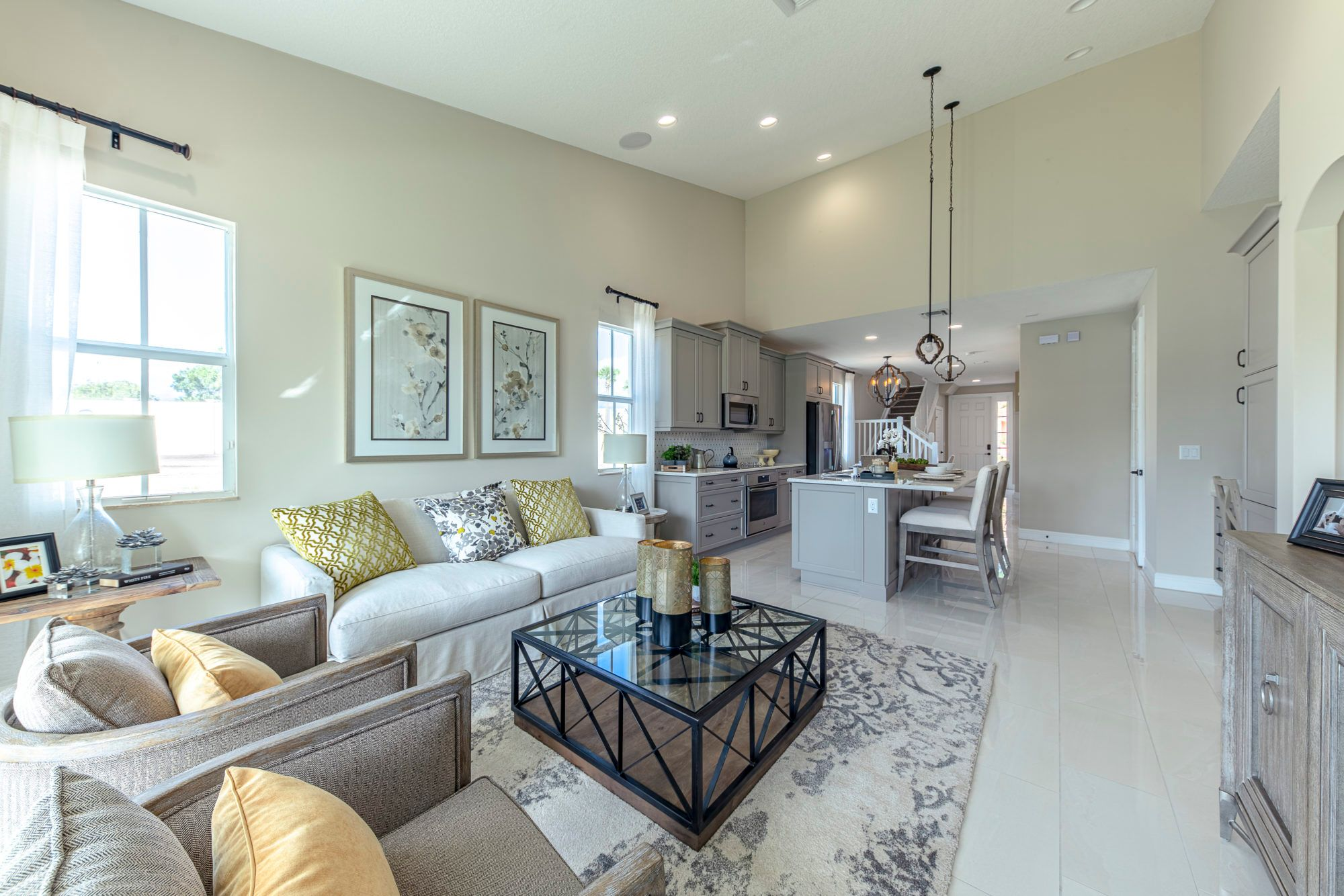 Living Area featured in the Sancia By 5 Star Development in Palm Beach County, FL