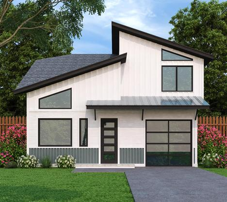 1436 Plan:Front Elevation