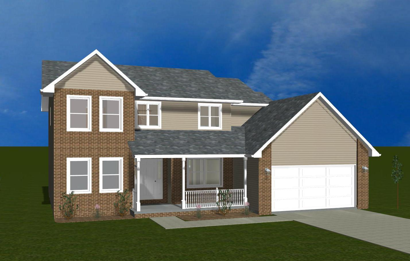 Exterior featured in the Linden B By Accent Homes Inc. in Gary, IN
