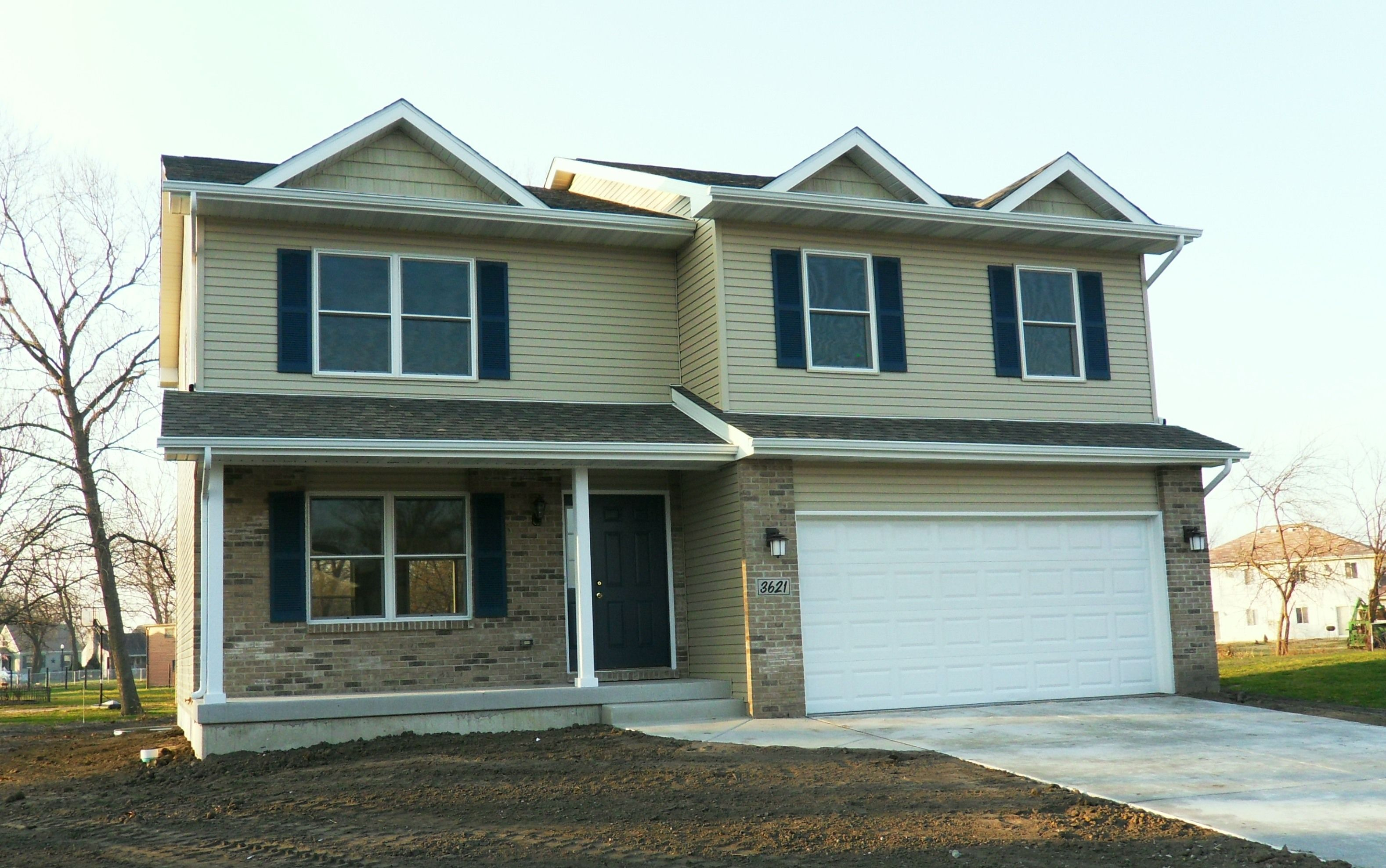 Exterior featured in the Sophia B By Accent Homes Inc. in Gary, IN