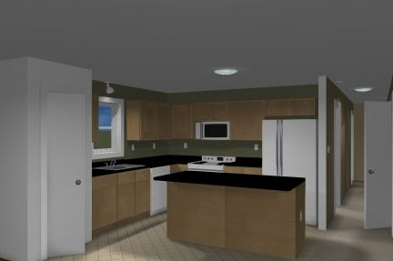 Kitchen featured in The Windsor III By Accent Homes Inc. in Gary, IN