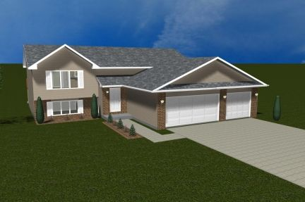 Exterior featured in The Windsor III By Accent Homes Inc. in Gary, IN