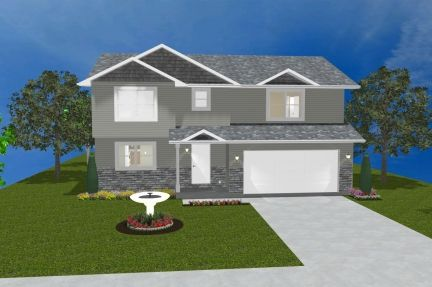 Exterior featured in The Montclaire By Accent Homes Inc. in Gary, IN