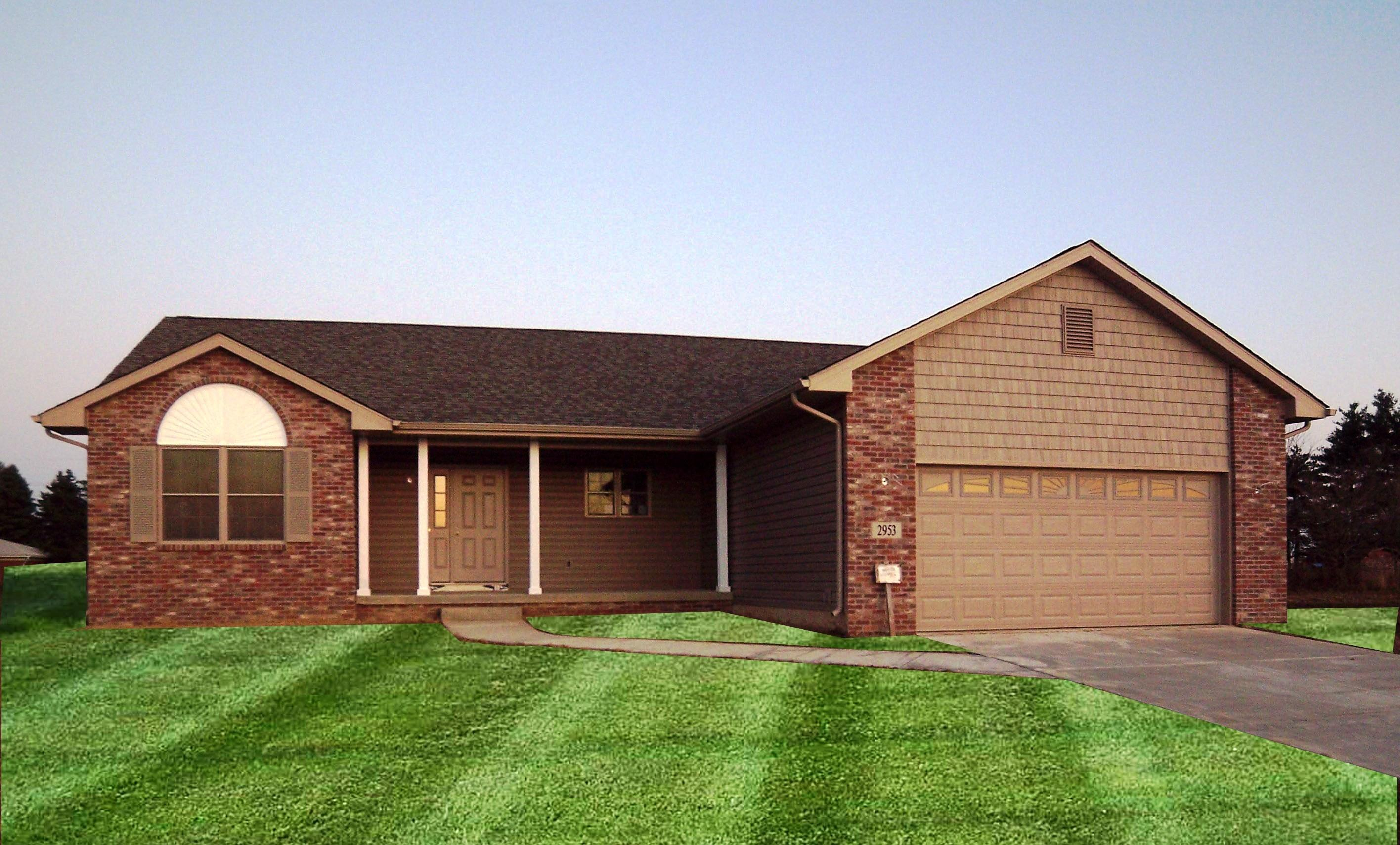 Exterior featured in the Cheyenne By Accent Homes Inc. in Gary, IN