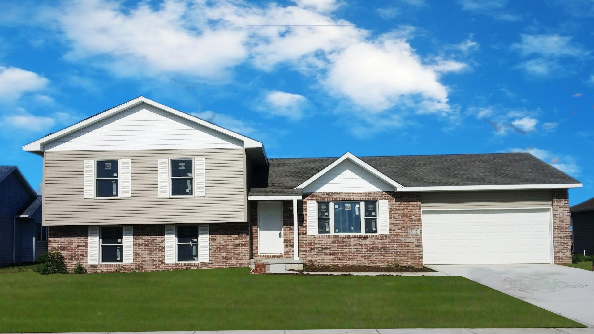 Exterior featured in the Amhurst III By Accent Homes Inc. in Gary, IN