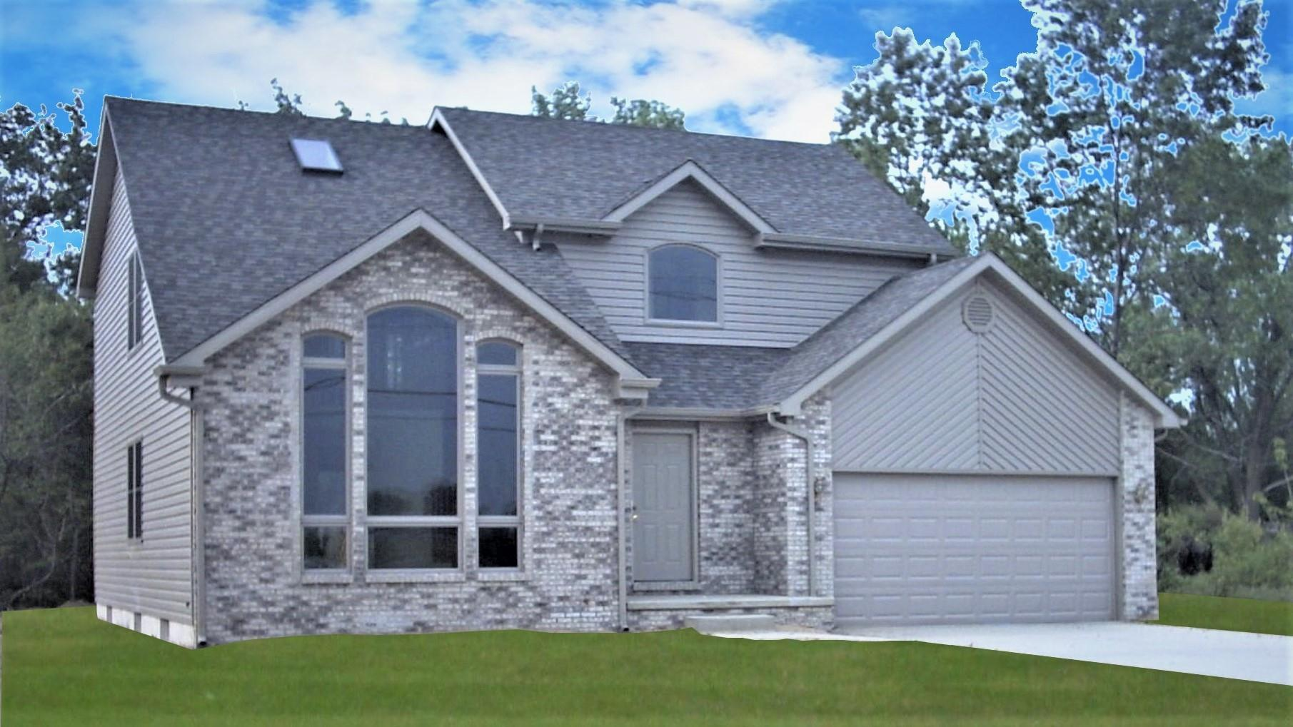 Exterior featured in the Ashford By Accent Homes Inc. in Gary, IN