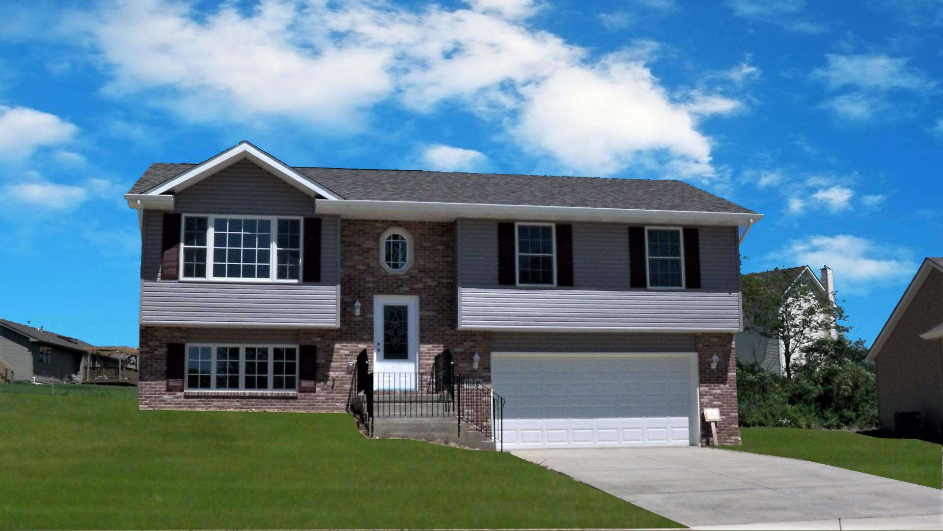 Exterior featured in the Glendale By Accent Homes Inc. in Gary, IN