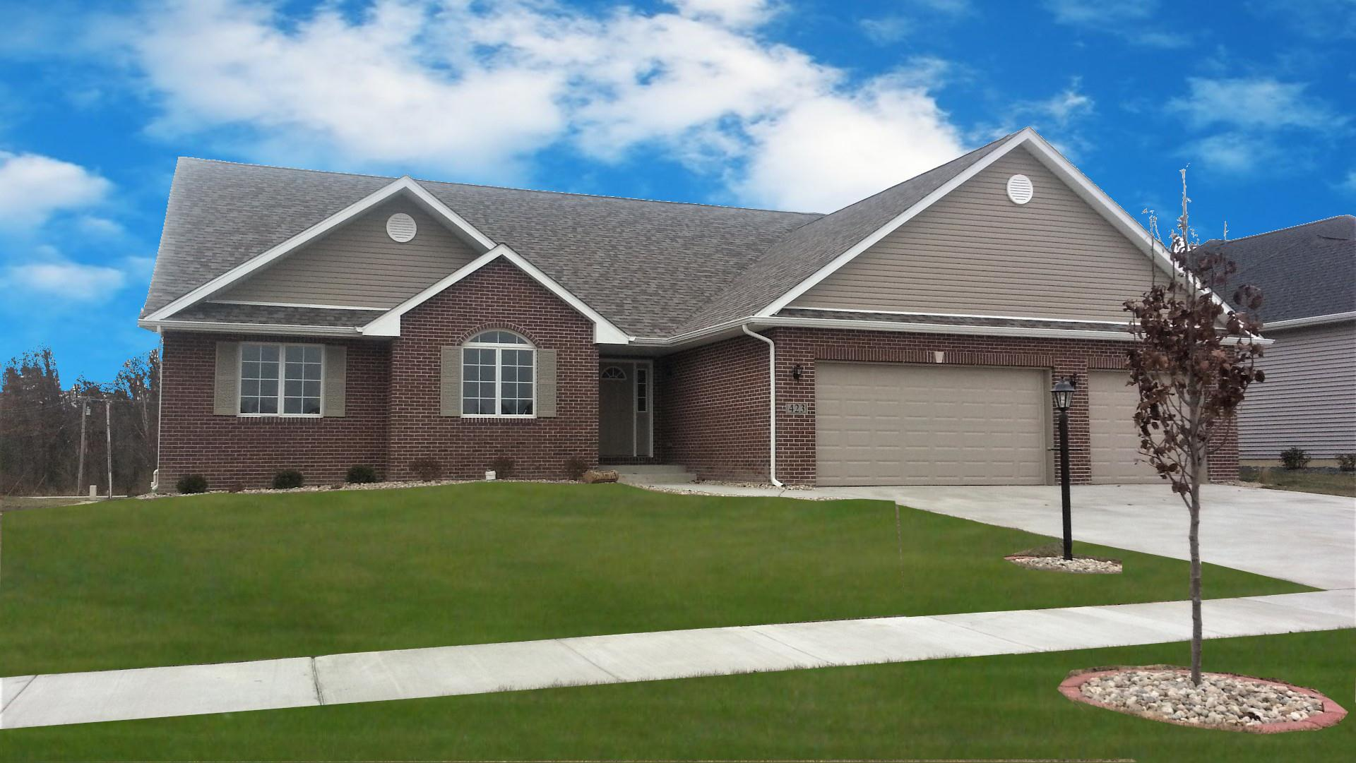 Exterior featured in the Hayden By Accent Homes Inc. in Gary, IN