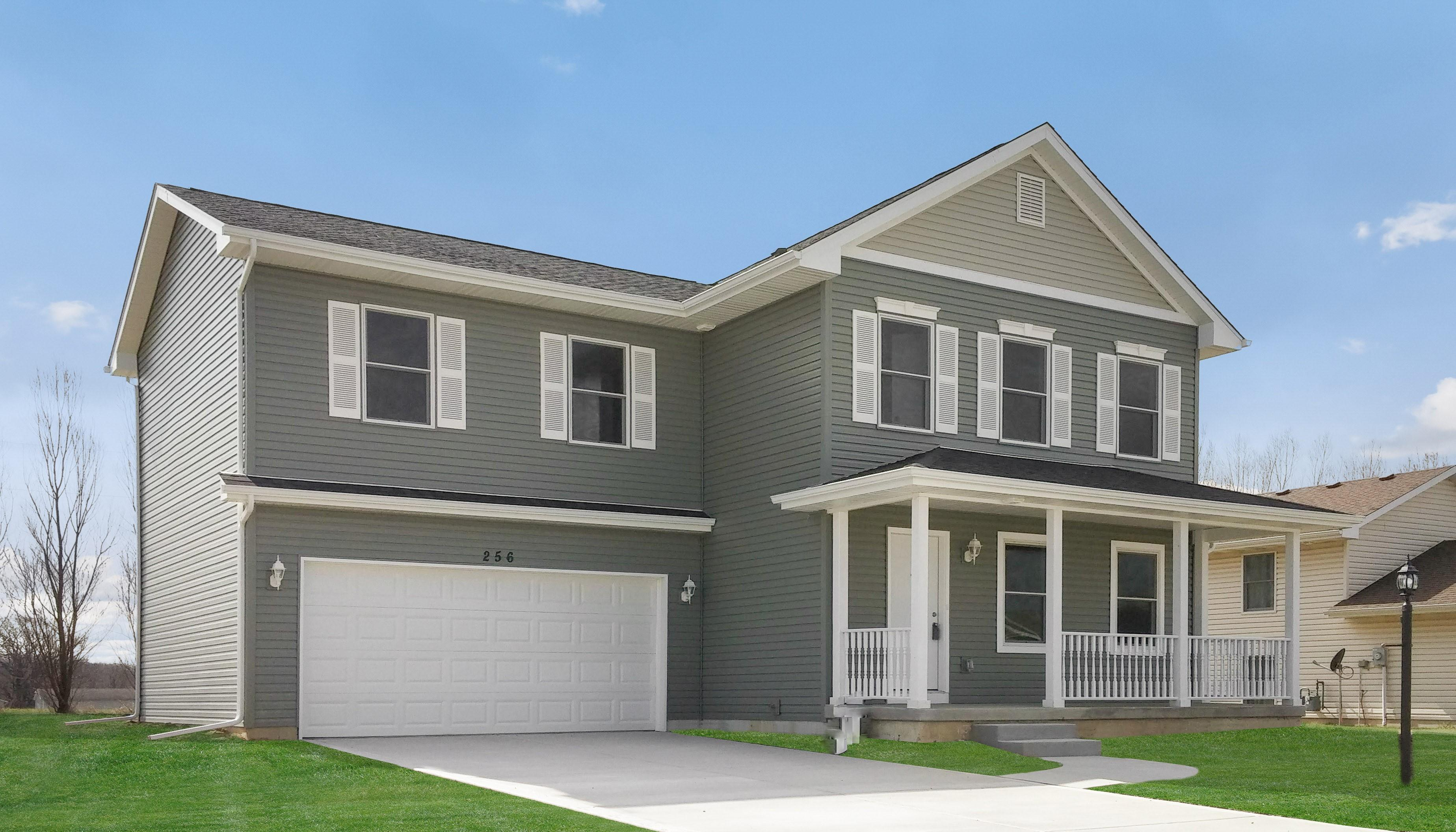 Exterior featured in the Pemlico By Accent Homes Inc. in Gary, IN