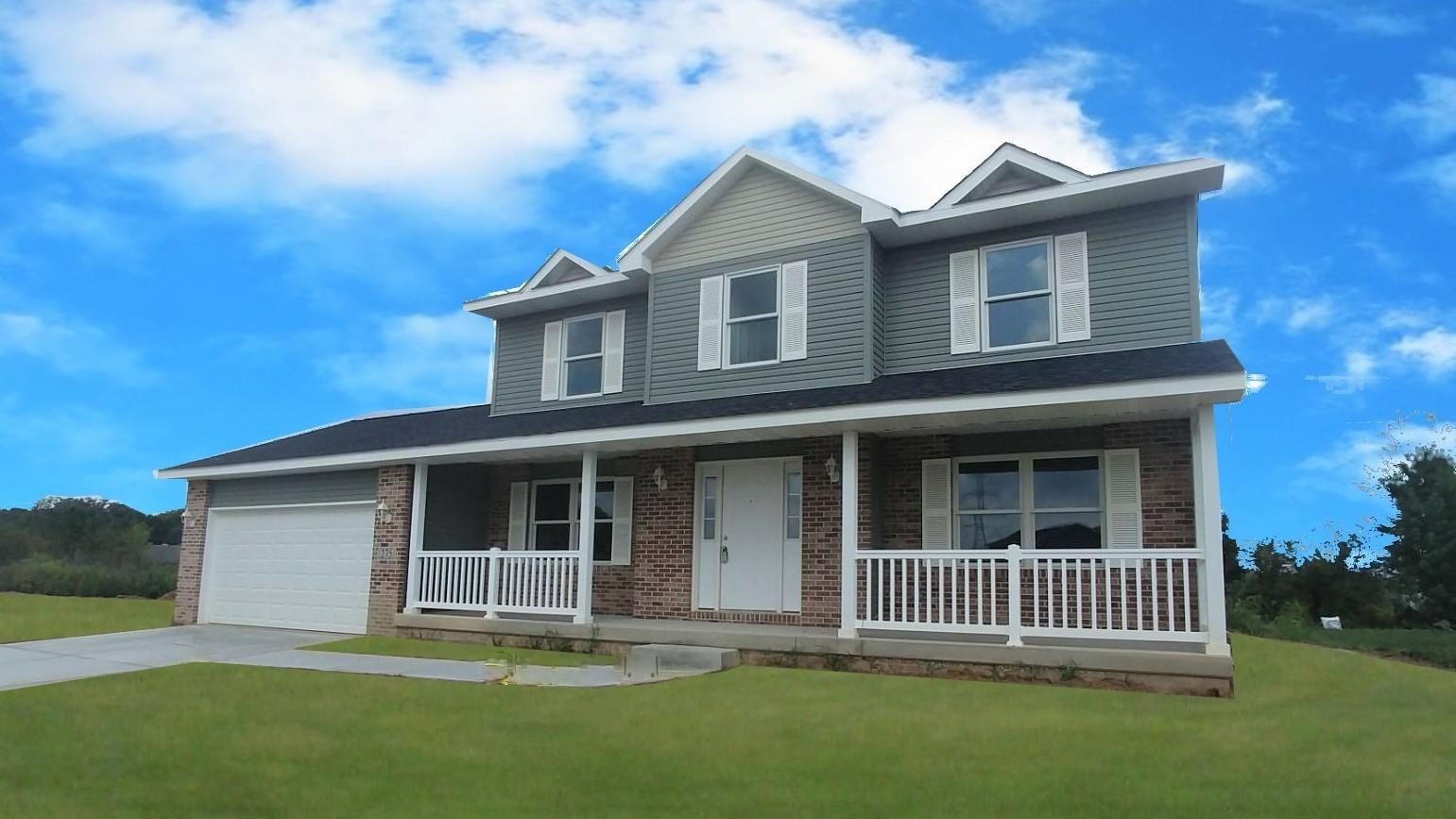 Exterior featured in the Phillips By Accent Homes Inc. in Gary, IN
