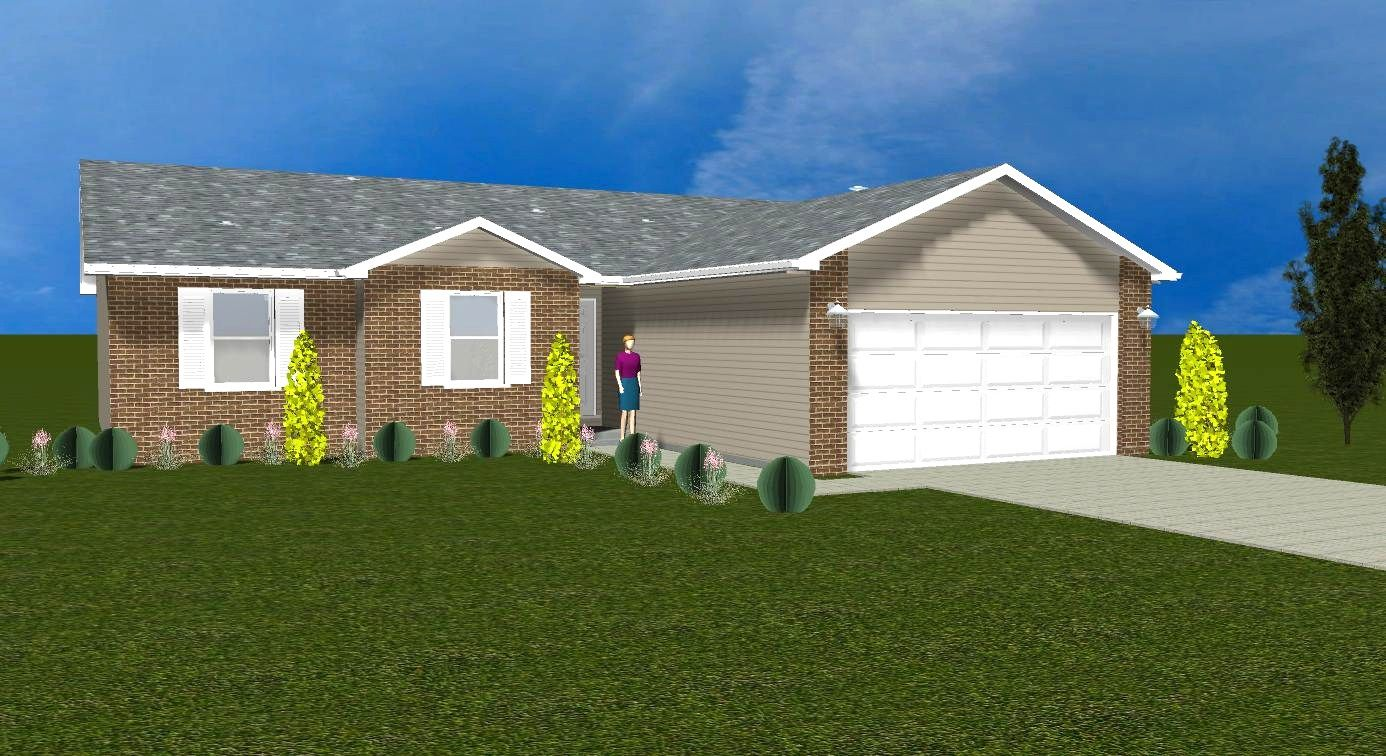 Exterior featured in the Lexington II By Accent Homes Inc. in Gary, IN