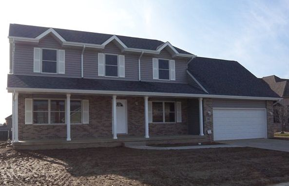 Exterior featured in the Phillips II By Accent Homes Inc. in Gary, IN