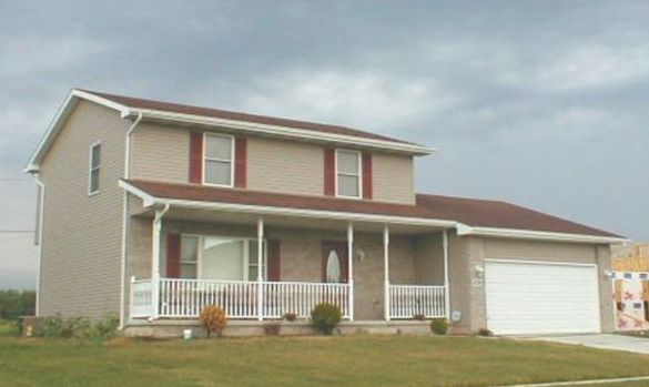 Exterior featured in the Reynolds By Accent Homes Inc. in Gary, IN