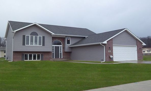 Exterior featured in the Wellington II By Accent Homes Inc. in Gary, IN