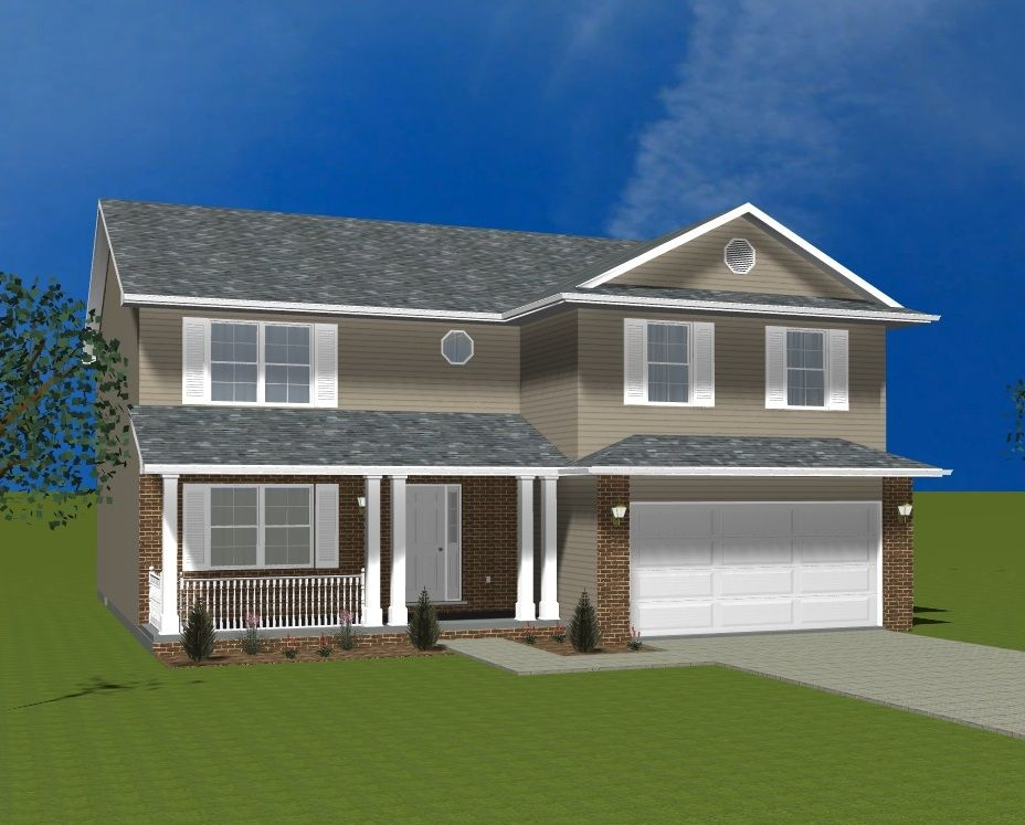 Exterior featured in the Smithport By Accent Homes Inc. in Gary, IN