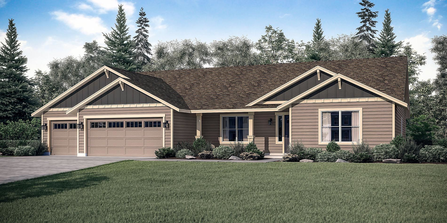 Exterior featured in The Mt. Hood - Build On Your Land By Adair Homes in Medford-Ashland, OR
