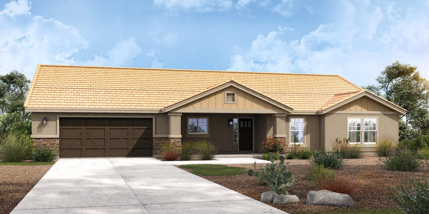 Exterior featured in The Hayden - Build On Your Land By Adair Homes in Phoenix-Mesa, AZ