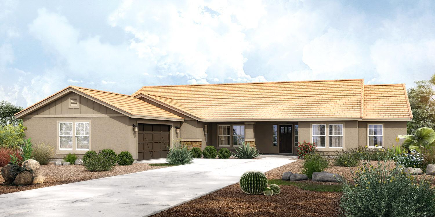 Exterior featured in The Fitzpatrick - Build On Your Land By Adair Homes in Phoenix-Mesa, AZ
