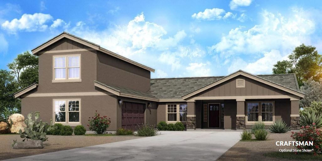 Exterior featured in The Berkley - Build On Your Land By Adair Homes in Phoenix-Mesa, AZ