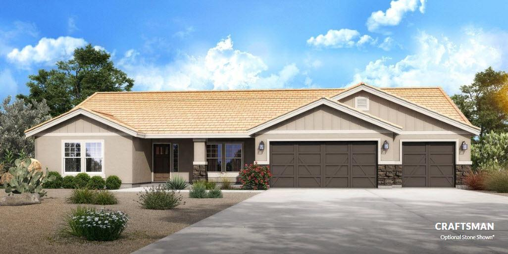 Exterior featured in The Winslow - Build On Your Land By Adair Homes in Phoenix-Mesa, AZ