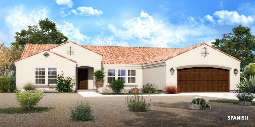 Exterior featured in The Sedona - Build On Your Land By Adair Homes in Phoenix-Mesa, AZ