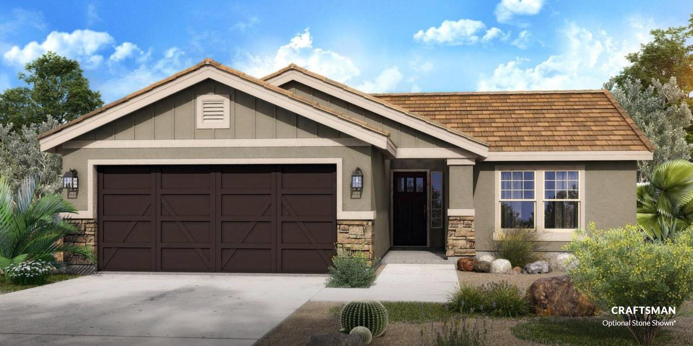 Exterior featured in The Carson - Build On Your Land By Adair Homes in Phoenix-Mesa, AZ