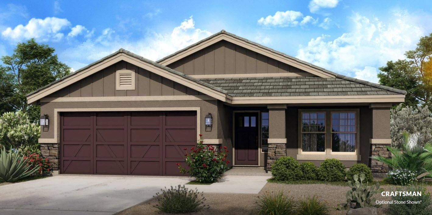 Exterior featured in The Zion - Build On Your Land By Adair Homes in Phoenix-Mesa, AZ