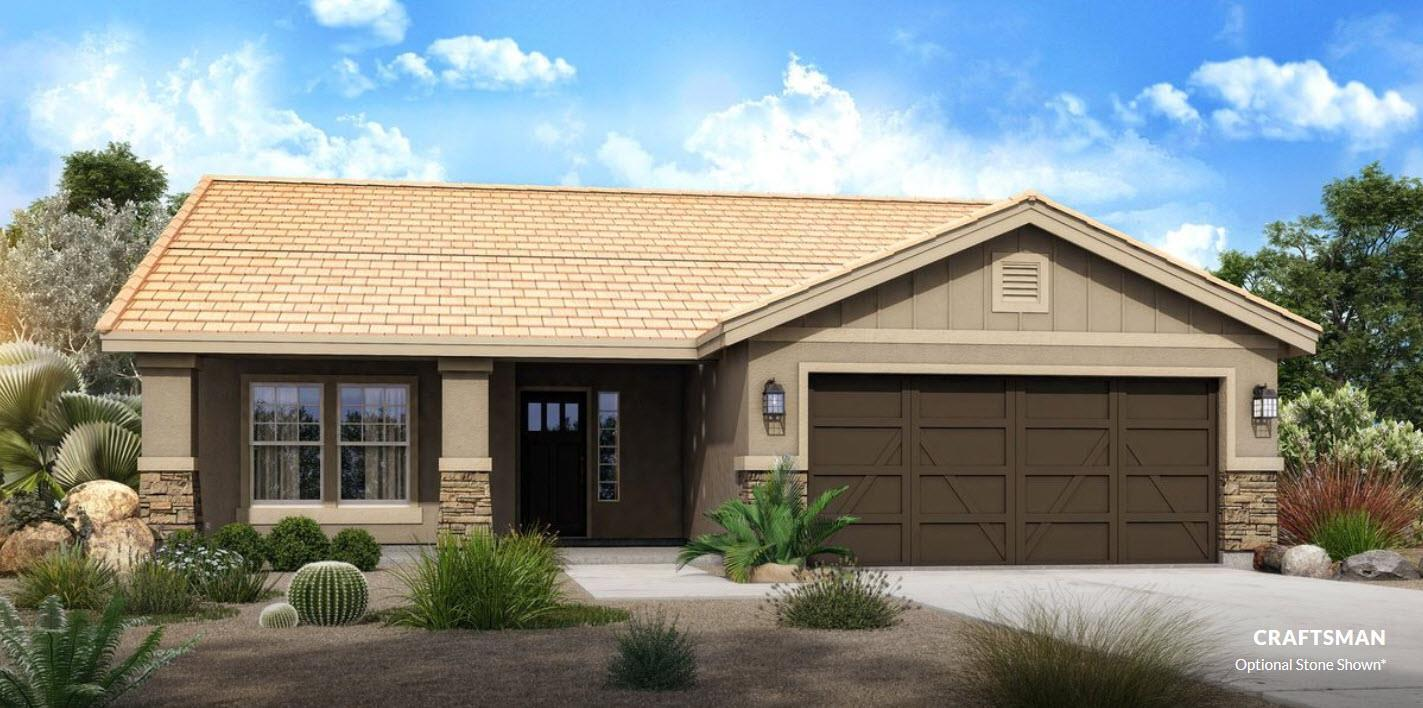 Exterior featured in The Hoodoo - Build On Your Land By Adair Homes in Phoenix-Mesa, AZ
