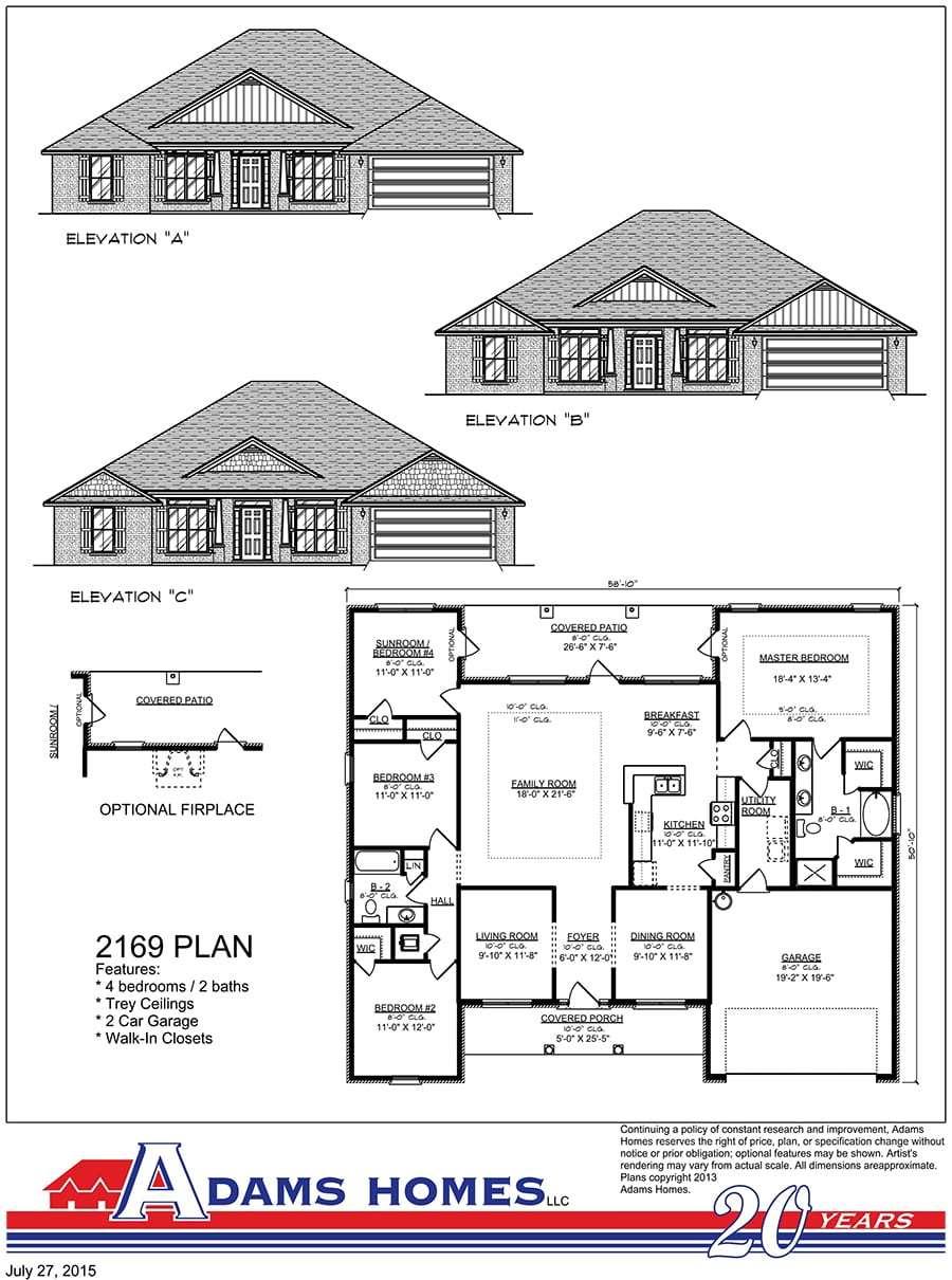 Adams Homes Llc New Home Plans In Helena Al Newhomesource