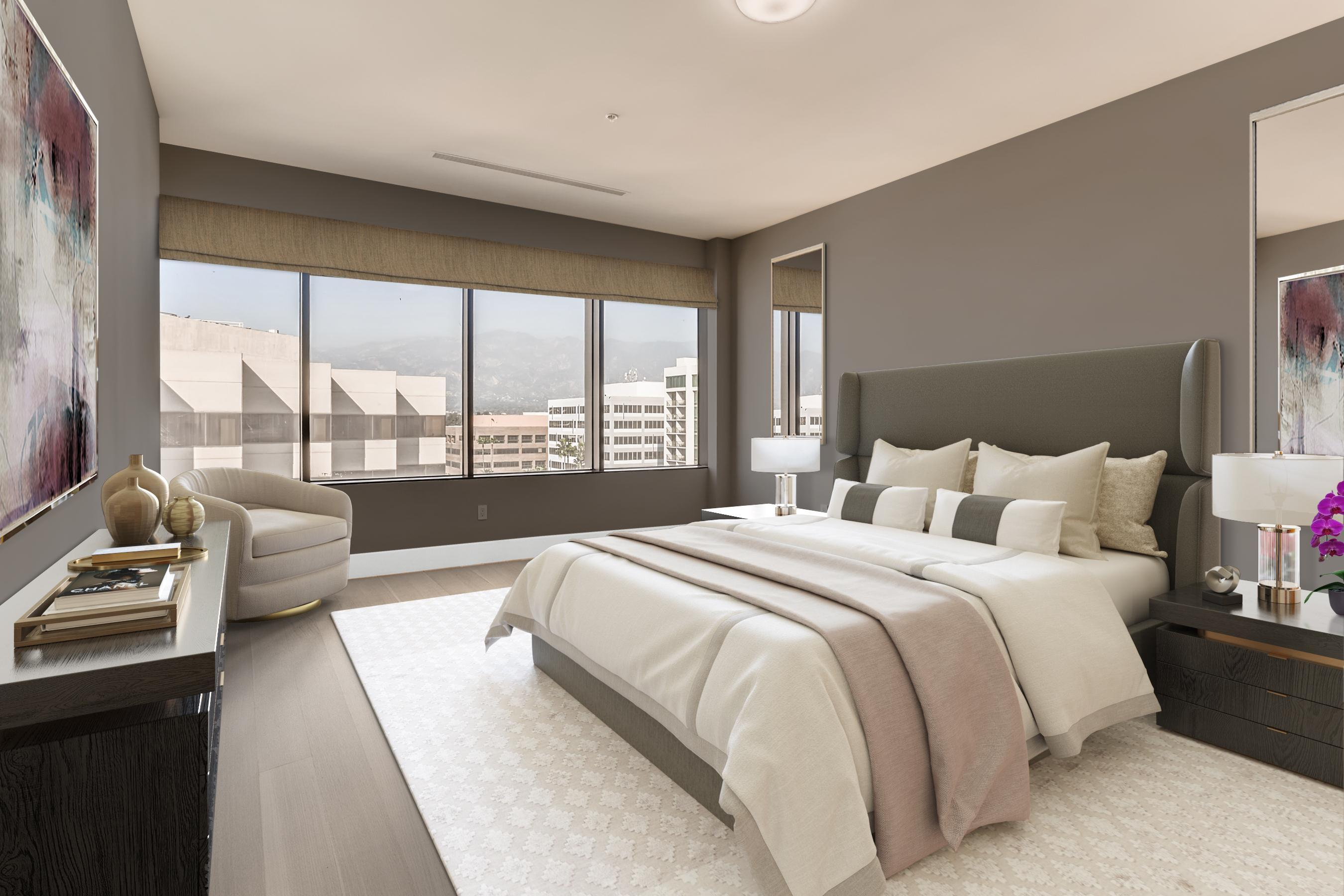 Bedroom featured in the Penthouse 3 By Adept Urban  in Los Angeles, CA