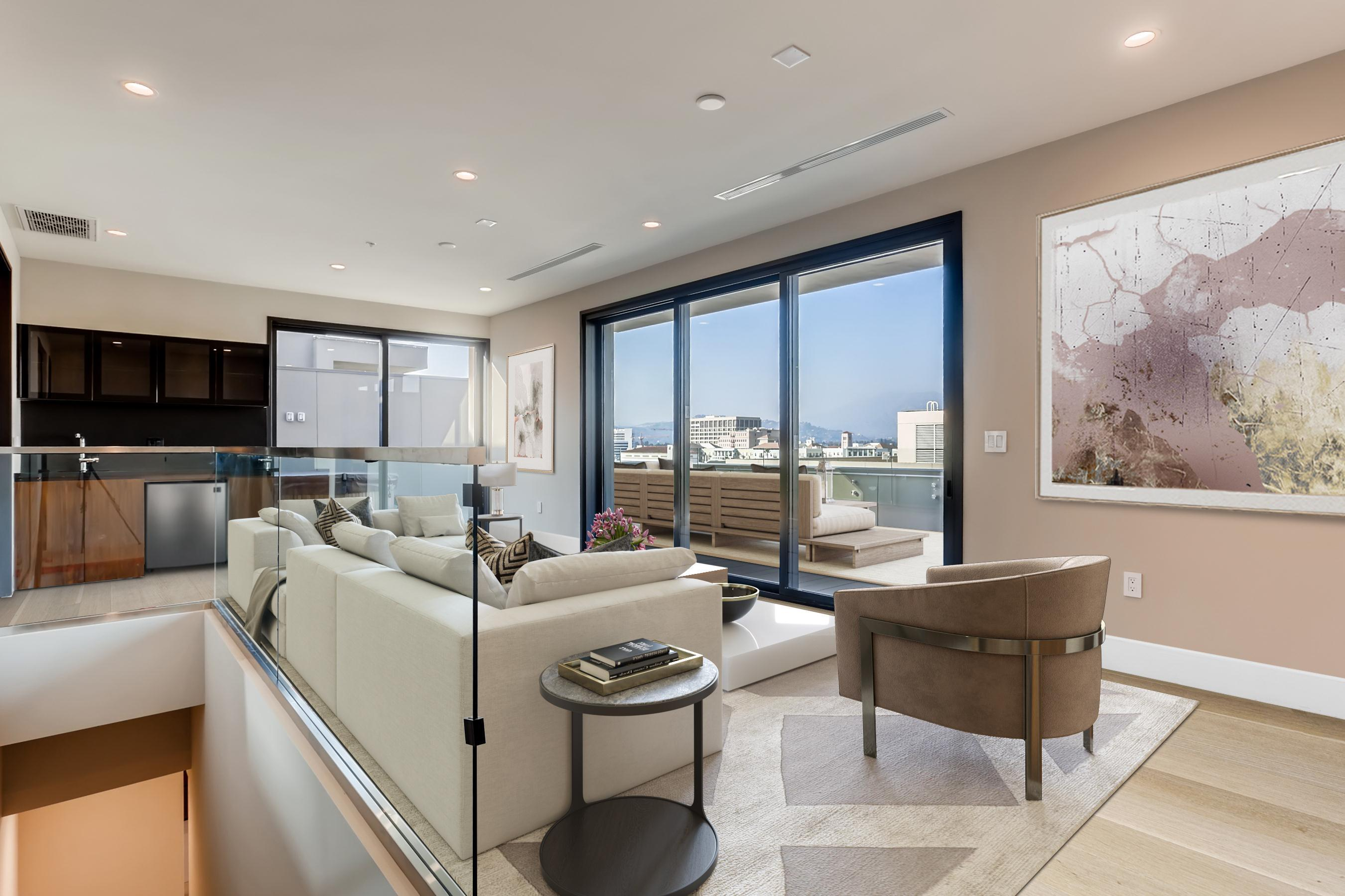 Living Area featured in the Penthouse 3 By Adept Urban  in Los Angeles, CA
