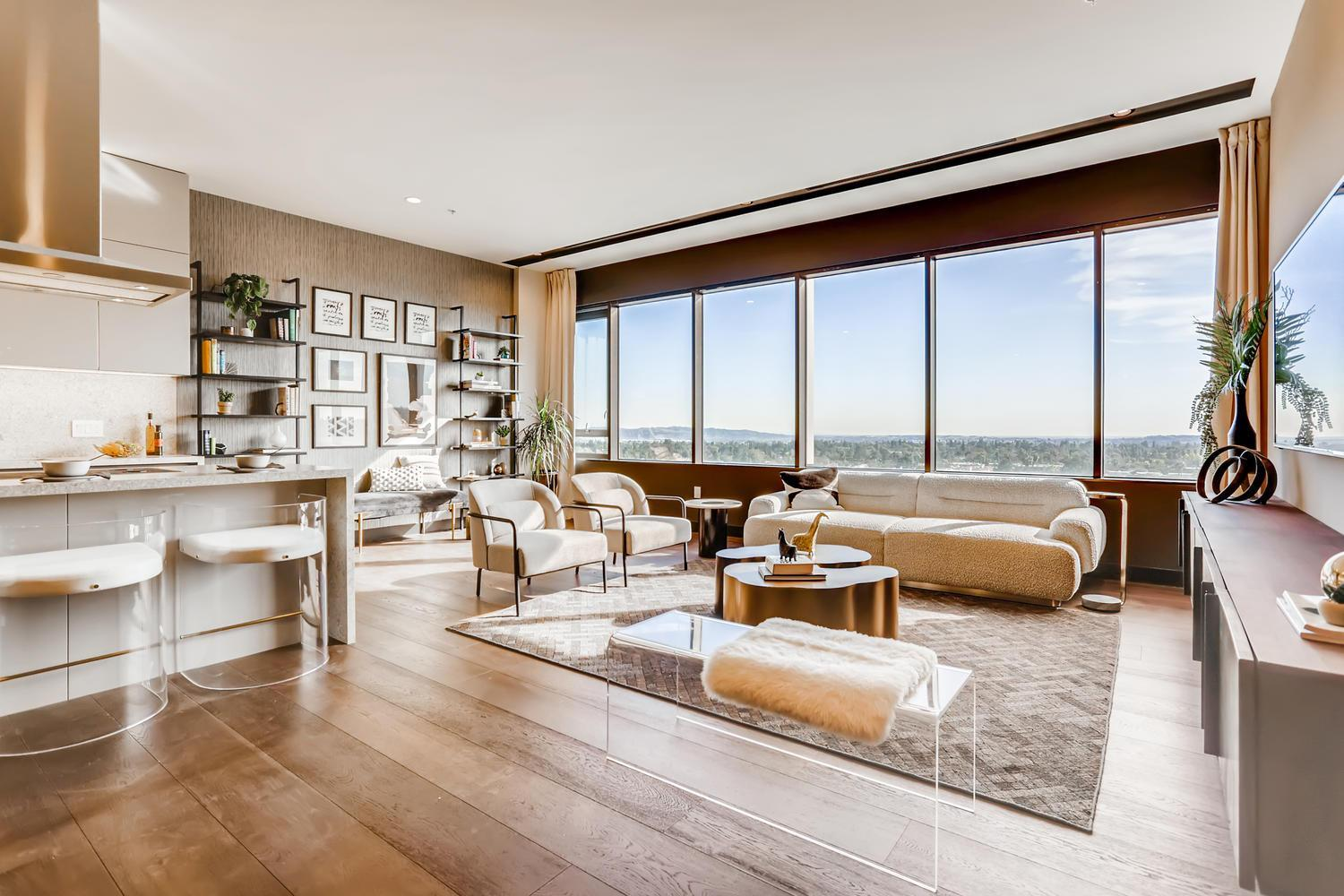 Living Area featured in the Penthouse 6 By Adept Urban  in Los Angeles, CA