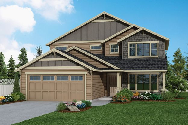 Plan 2237 Elevation 1 Rendering by Aho Construction:Plan 2237 Elevation 1