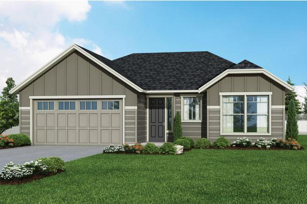 Plan 1726 Elevation 1 Rendering by Aho Construction:Plan 1726 Elevation 1 Rendering